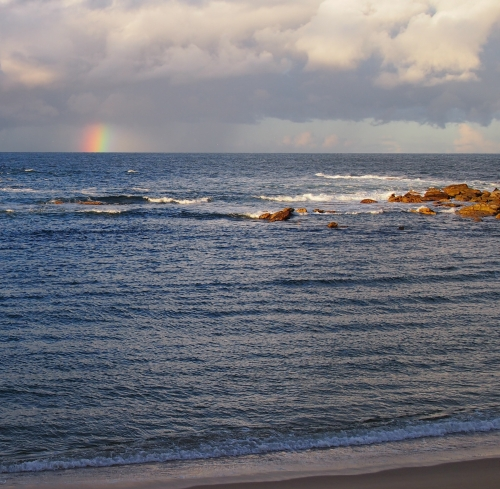 Rainbow at Little Bay, afternoon of 30 June 2013
